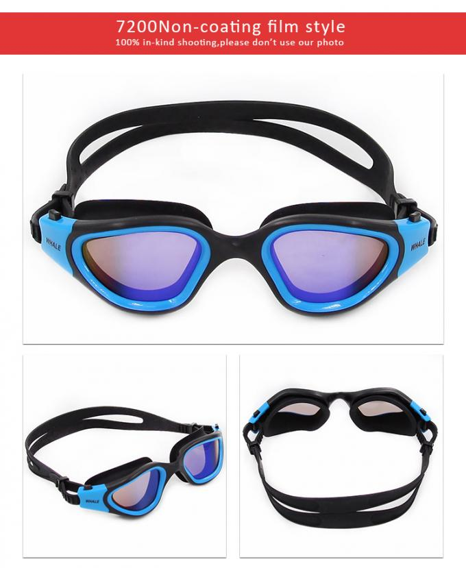 Anti Fog Mirror Coating lens Easy Adjustable Strap Clear Vision Swim Goggles