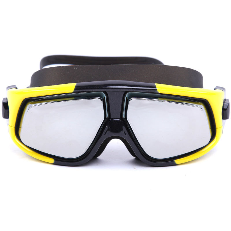 b8fdf1172f Yellow Prescription Swim Goggles Nearsighted 100% UV Protection ...