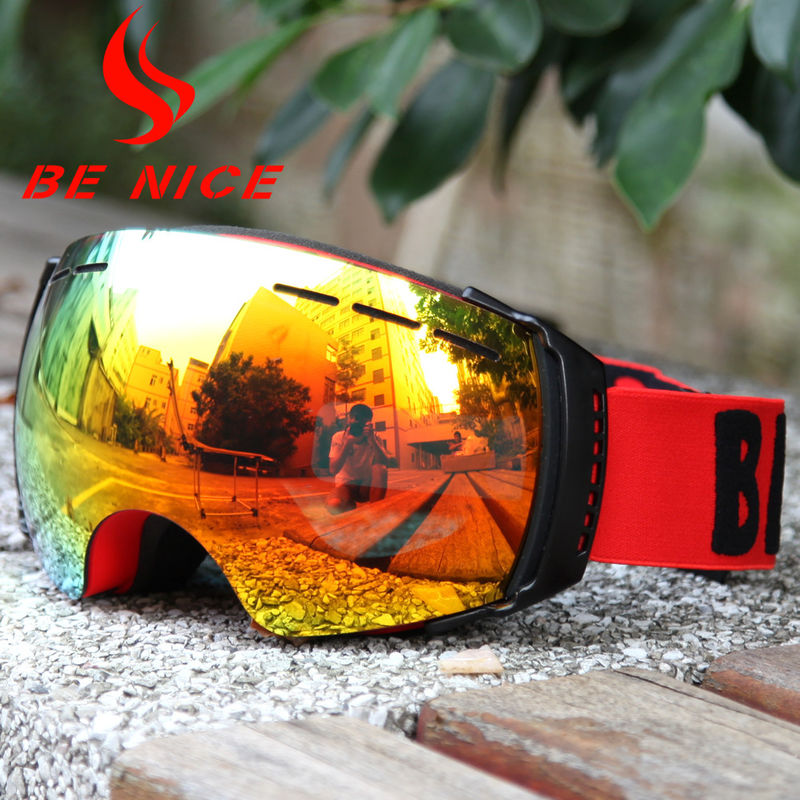 Professional Skiing Ski Snowboard Goggles Interchangeable Lens Ultraviolet Light Protection