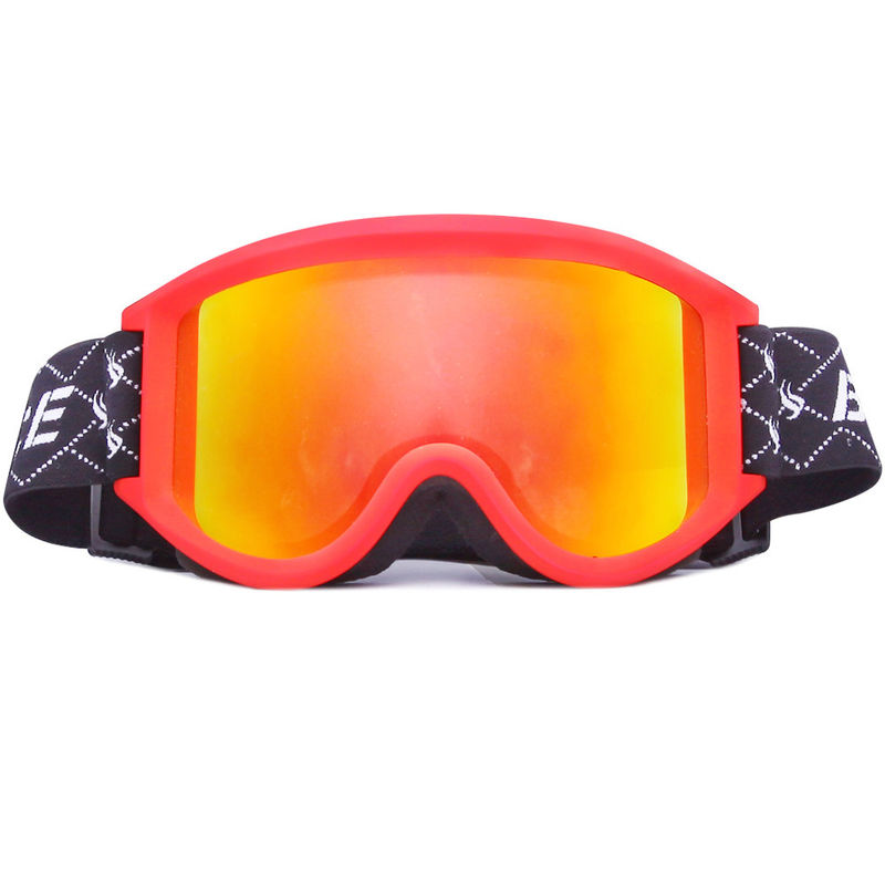 Windproof Anti Fog Snowboard Goggles With Double Spherical Lens , TPU Frame