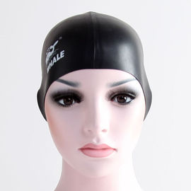 No Minimum Printing Silicone Swimming Caps For Colored Hair , Not Easy To Damage