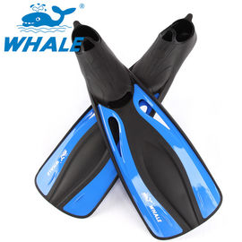 Blue Open Toe Hole Full Foot Diving Fins With Fast Remove Lock Design