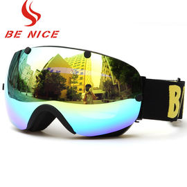 Comfortable Ski Snowboard Goggles Black Frame For Outdoor Sports Protective