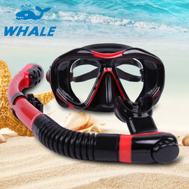 Large View Area Dive Mask Snorkel Set , Ladies Snorkel Set With Elastic Fiber Head Bendt