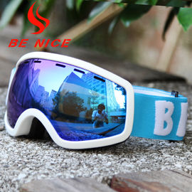 Eye Protective Kids Ski Goggles With Three Layer Sponge , Customized Logo