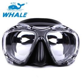 Black Liquid Silicone Low Volume Dive Mask , Waterproof Tinted Snorkel Mask