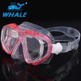 Four Window Silicone Diving Mask With Adjustable Tempered Glasses Lens