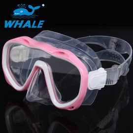 Premium Pink Silicone Diving Mask , No Fog Dive Mask UV Protection No Leaking